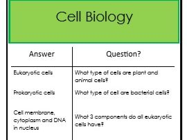 Biology AQA Combined Course revision flashcards