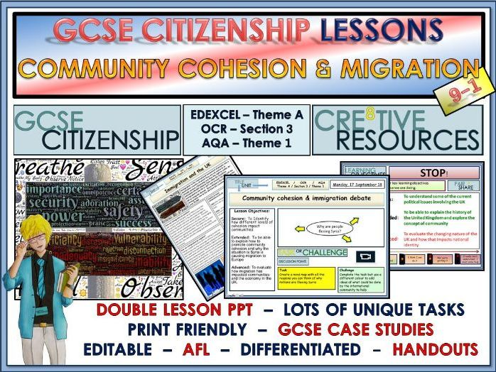 Lessons - Community Cohesion and Migration - GCSE Citizenship 9-1