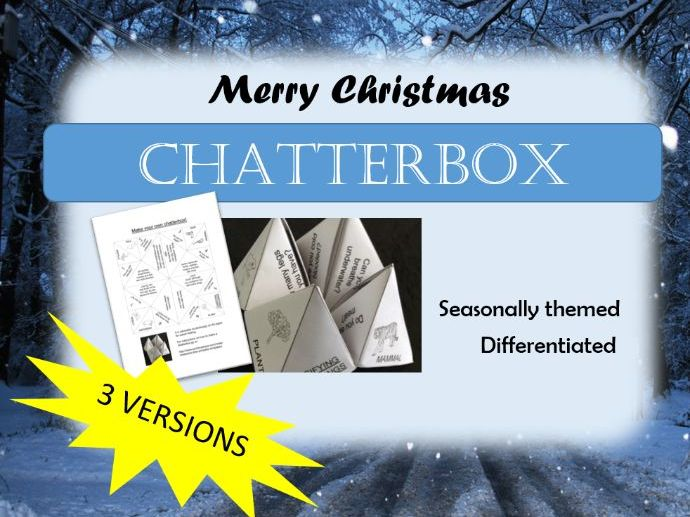 3 Christmas Chatterboxes