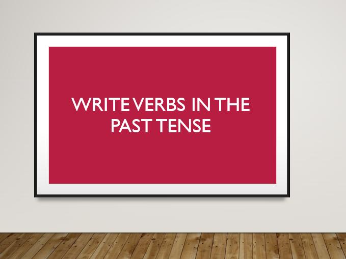 Past Tense TEFL