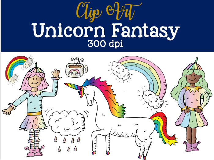 Unicorn Fantasy Fairy Tale Clip Art