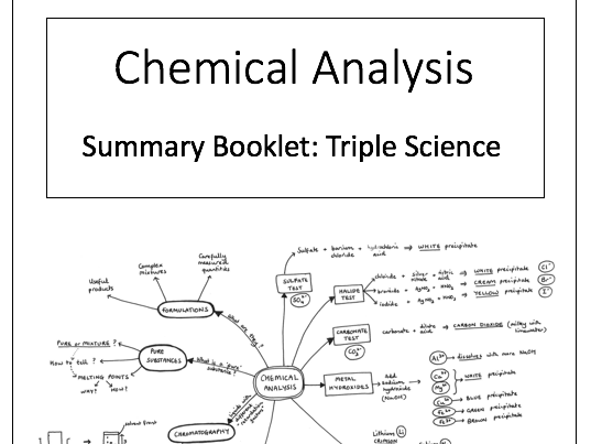 Chemical Analysis resources for AQA GCSE Chemistry and Combined Science for 2018 exams