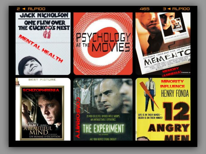 PSYCHOLOGY AT THE MOVIES 1 -  POSTERS@PSYCH – Brighten up your walls