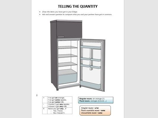 what 39 s in your fridge some any by nadiawilliams teaching resources tes. Black Bedroom Furniture Sets. Home Design Ideas
