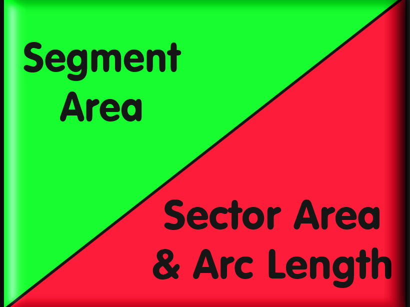 Sector Area, Arc Length and Segment Area - With Answers