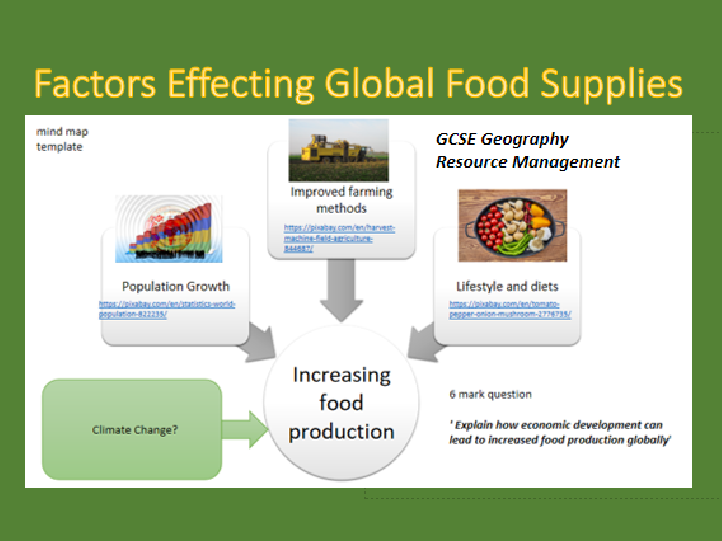 global resources; food supplies