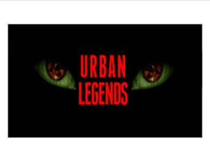 Urban Legends scheme of work
