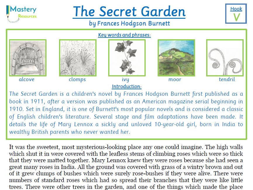 The Secret Garden by Frances Hodgson Burnett Comprehension KS2
