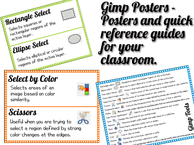 Gimp Posters and Quick Reference Guide