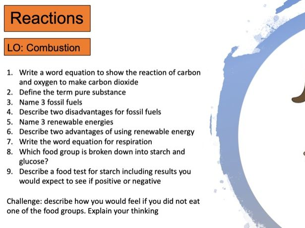 KS3 Combustion