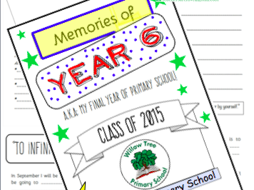 Year 6 Leavers Memory Work Book. End of Year Transition *PLUS Free Certificate Templates*