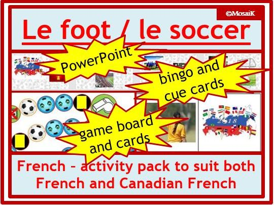 French: Soccer / Football Activity Pack - World Cup, la coupe du monde