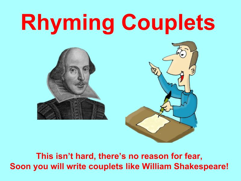 Rhyming Couplets Lesson