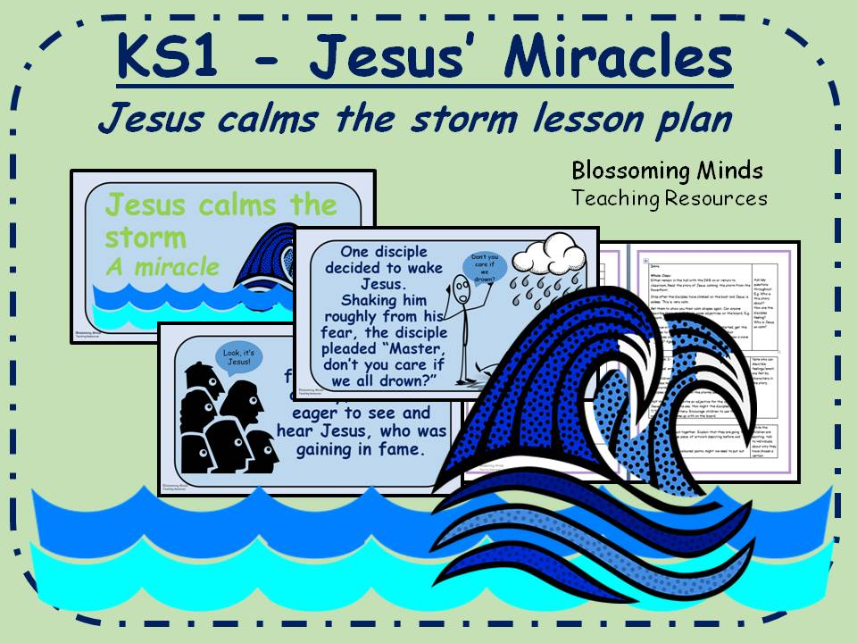 KS1 RE plan - Jesus' Miracles - Jesus calms the storm