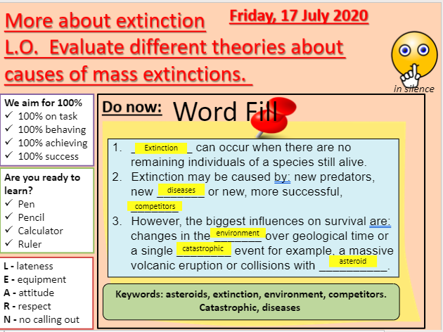 AQA B15.7 More about extinction