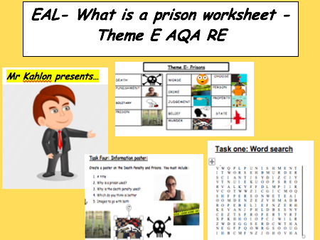 EAL- What is a prison worksheet - Theme E AQA RE