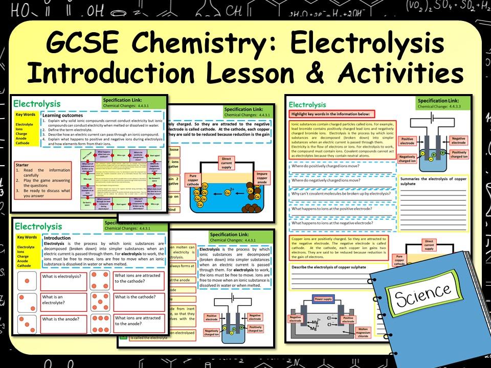 KS4 AQA GCSE Chemistry (Science) Electrolysis Lesson