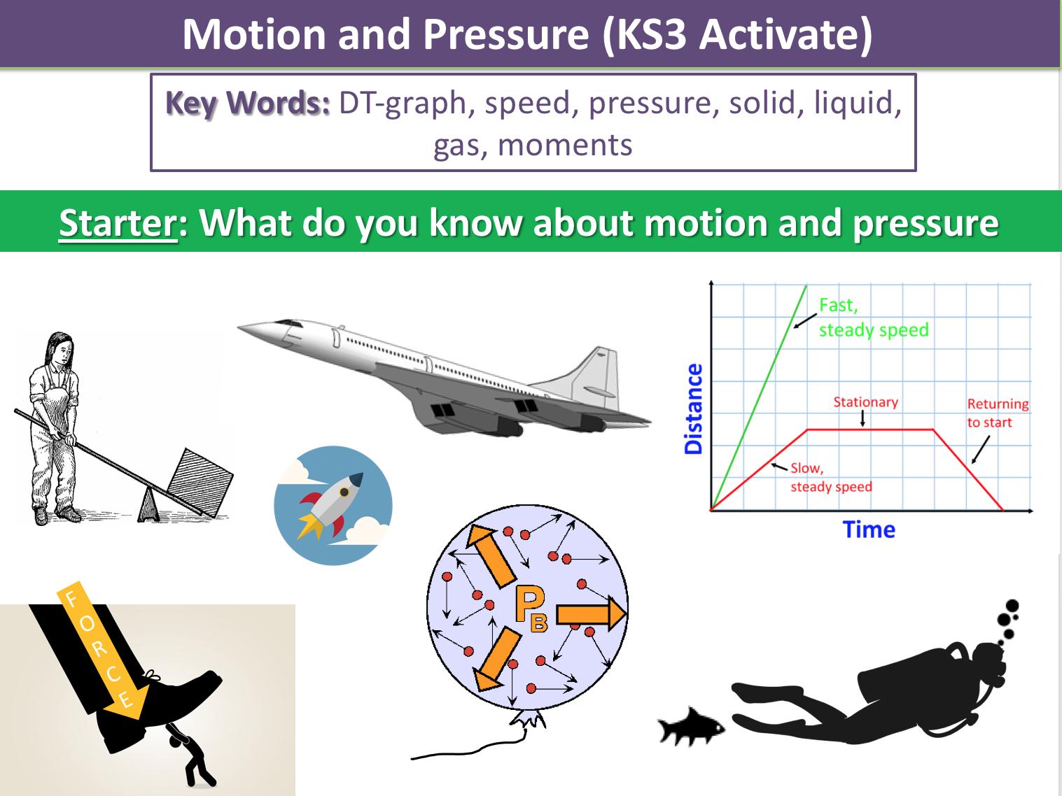 Motion and Pressure (KS3)