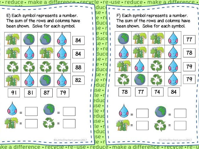 Earth Day 22nd April Logic Puzzles