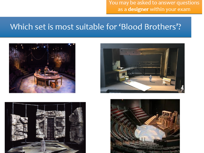 OCR GCSE Blood Brothers Set Design Revision lesson