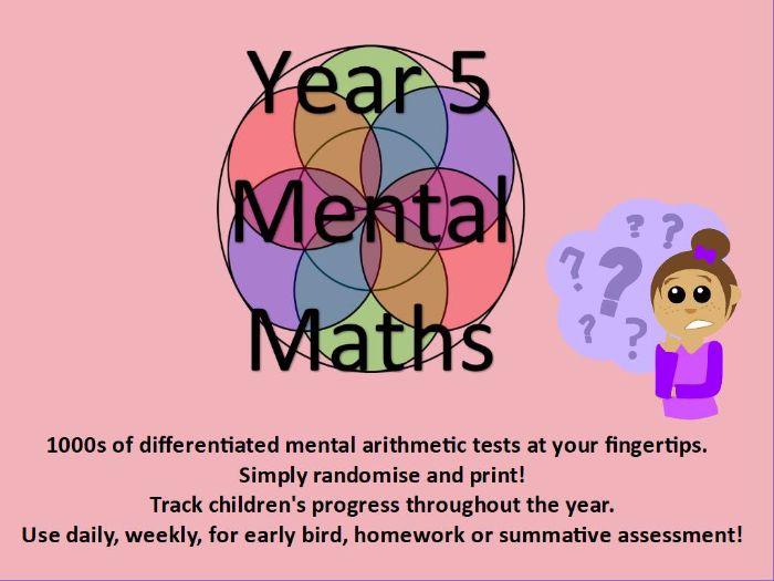 Year 5: Mental Arithmetic Tests