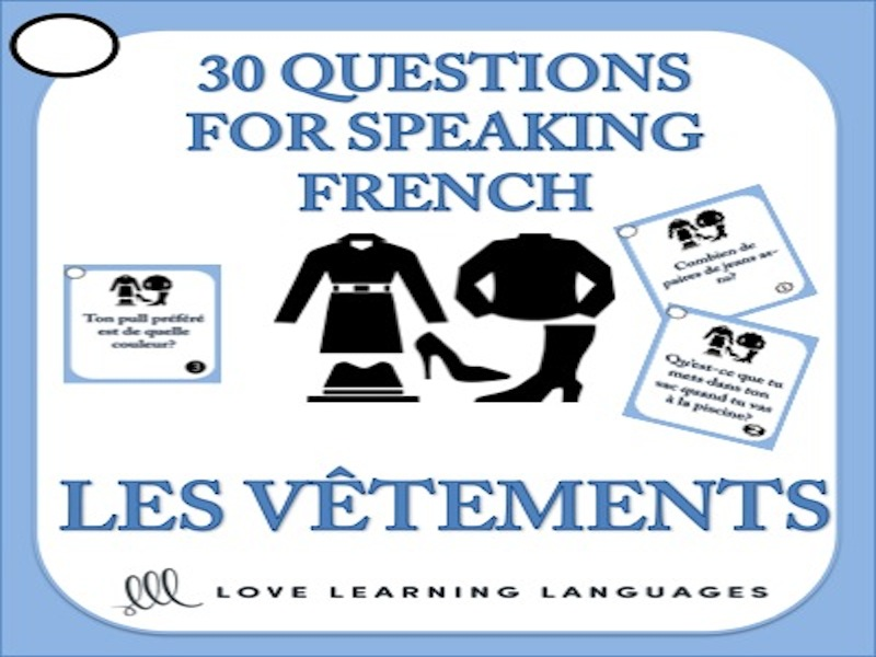 30 French Speaking Questions - Les Vêtements