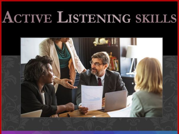 Active Listening Skills PowerPoint Presentation and Learner Activity Worksheet