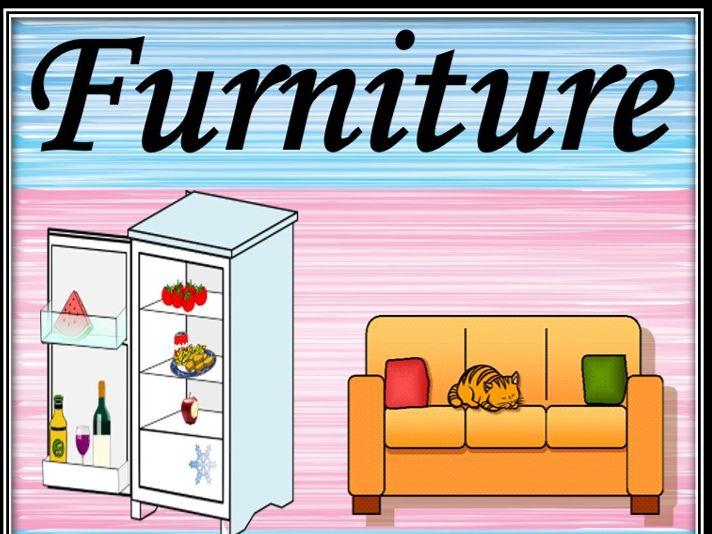 Furniture. Wordsearch.