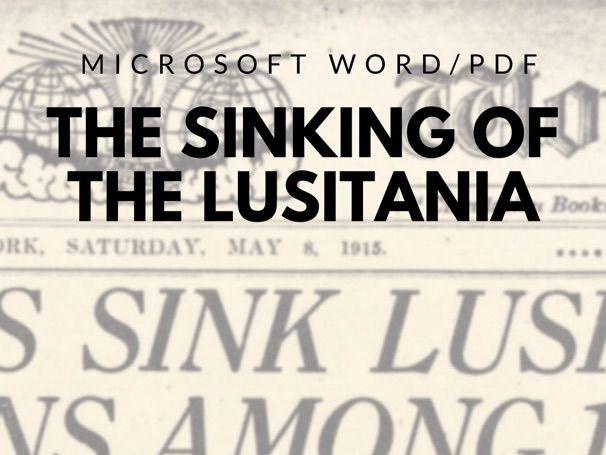 Sinking of Lusitania Reading/Worksheet