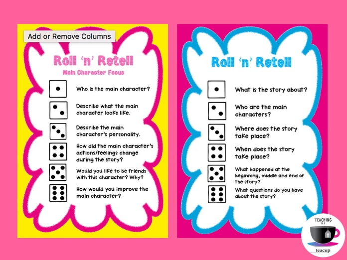 roll n retell   reading games non fiction by