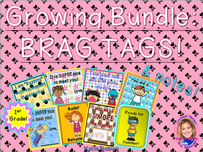 GROWING BUNDLE: Brag Tags! (First Grade)