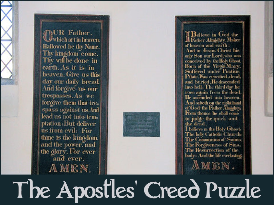 The Apostles' Creed - puzzle