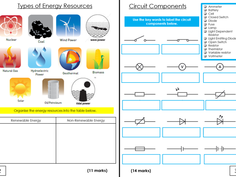 Year 9 End of Year Science Revision Resources