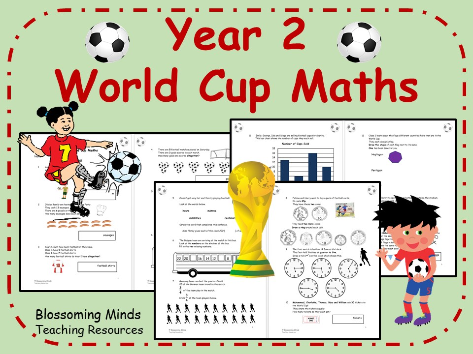 Year 2 World Cup 2018 Maths - All Topics - Differentiated Levels