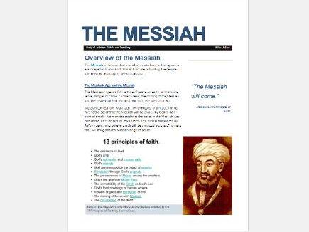 WJEC Eduqas Judaism: Messiah Mashiach Exam Booklet
