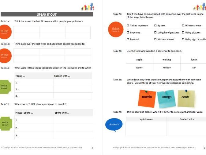 LITERACY (3) - SPEAK IT student workbooklet