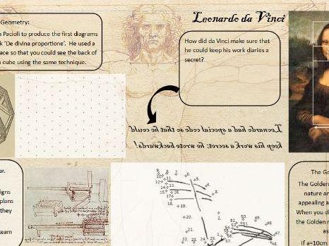 Leonardo Da Vinci Activity Sheet