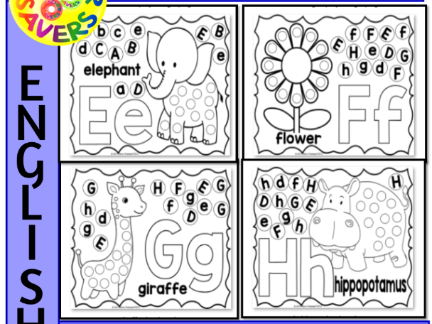 Alphabet Activity Letter Sheets