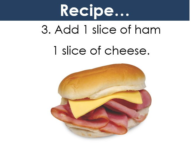 How to make a sandwich. For EAL/ESL/KS1 Learners.