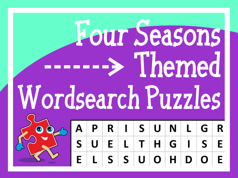 Four Seasons Themed Wordsearch Puzzles