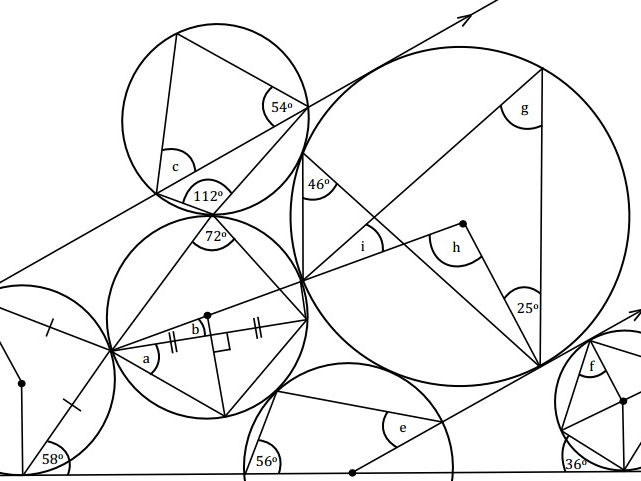Circle Theorems Revision Exercise #9