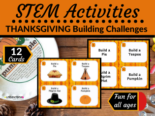 FREE STEM Activities | Thanksgiving Building Challenges