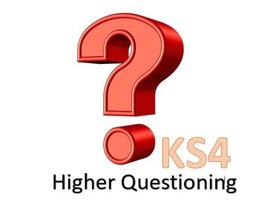 KS4 Art Higher Questioning Sheet