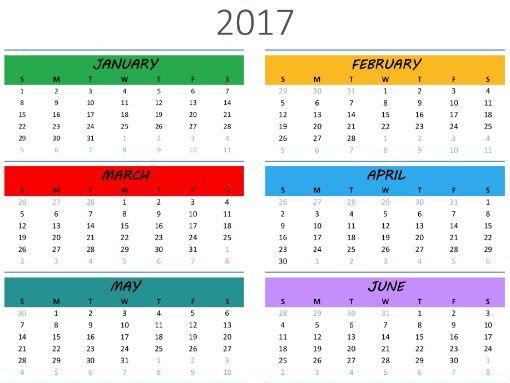 2017-2019 Calendar