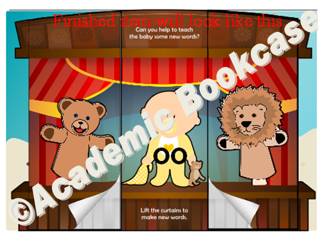 Puppet theatre word maker - Phase 3 'oo' words