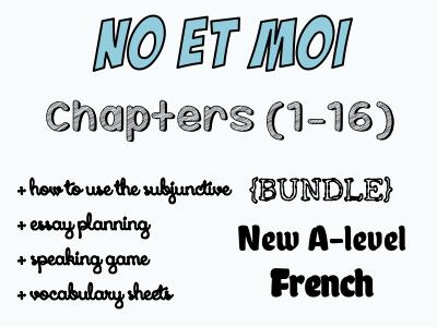 No et MOI - Etude des chapitres 1 à 16 (worth £30)
