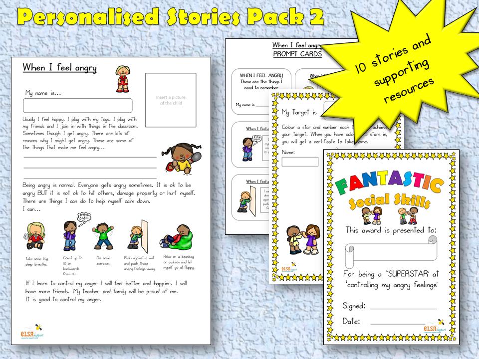 Personalised Story pack 2 - Social skills