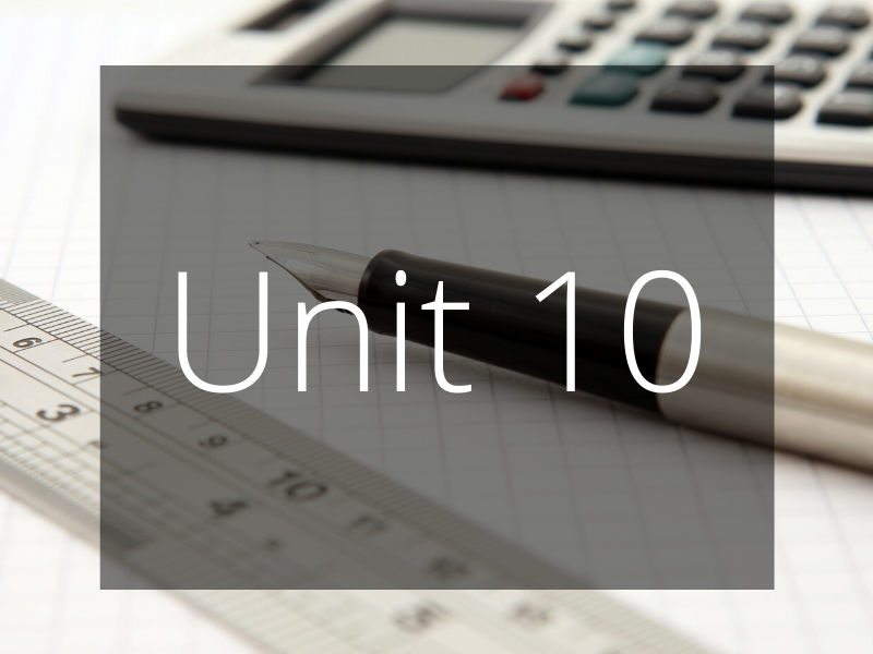 Unit 10 - Personalised Learning Checklist (PLC) - GCSE Edexcel Maths (Higher)
