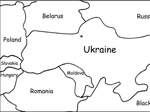 UKRAINE - Printable worksheets include a map to color