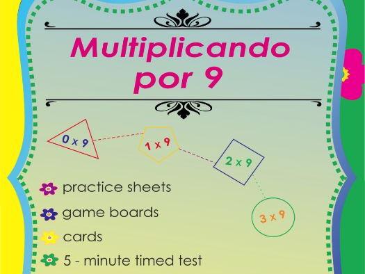 Multiplicando Por 9 - Spanish Multiplication Math Games and Lesson Plans